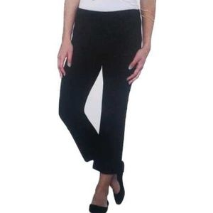 Max & Mia Black Crop Stretch Slacks Sz XL NWT
